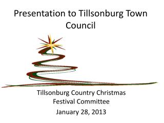 Presentation to Tillsonburg Town Council