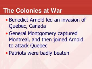 The Colonies at War