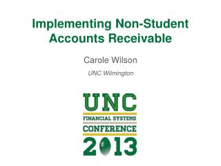 Implementing Non-Student Accounts Receivable