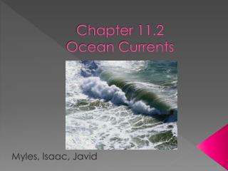 Chapter 11.2  Ocean Currents