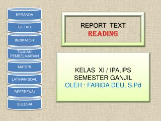 REPORT  TEXT READING