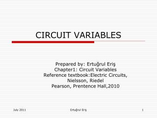 CIRCUIT VARIABLES