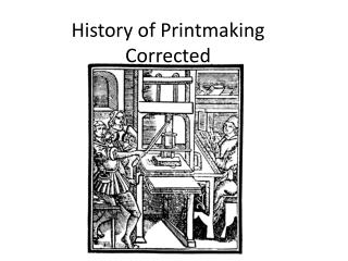 History of Printmaking Corrected