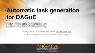 Automatic task generation for DAGuE