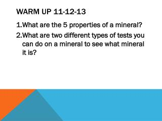 Warm Up 11-12-13