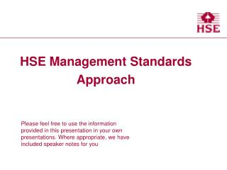 HSE Management Standards Approach