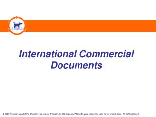 International Commercial Documents