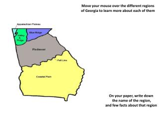 Move your mouse over the different regions of Georgia to learn more about each of them