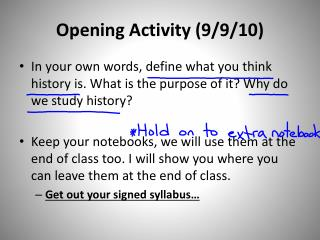 Opening Activity (9/9/10)