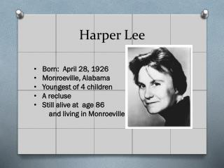 nelle harper lee essay Tags: analysis of harper lee's to kill a mockingbird, coming of age in harper lee's to kill a mockingbird, essay on to kill a mockingbird, harper lee, jean louise, nelle harper lee, scout, summary of to kill a mockingbird, the title of harper lee's to kill a mockingbird, to kill a mockingbird.