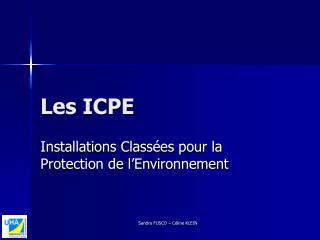 Les ICPE