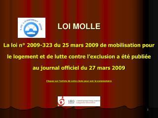LOI MOLLE