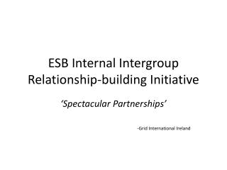 ESB Internal Intergroup Relationship-building Initiative
