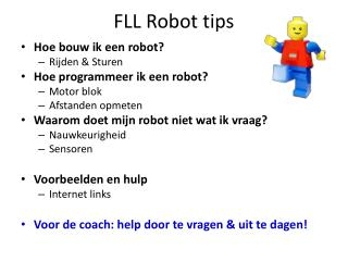 FLL Robot tips