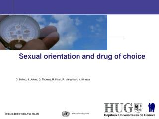 Sexual orientation and drug of choice