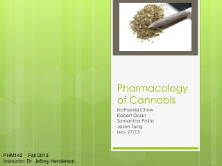 Pharmacology of Cannabis