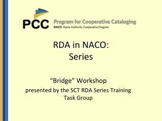RDA in NACO: Series