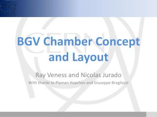 BGV Chamber Concept and Layout