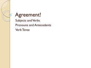 Agreement!