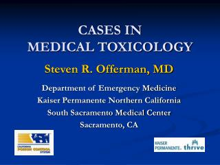 CASES IN  MEDICAL TOXICOLOGY