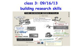 class 3: 09/16/13 building research skills