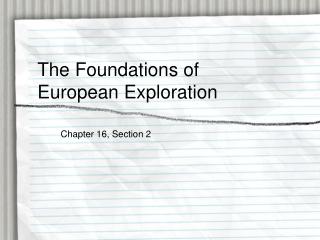 3-1, Europeans Explore the East