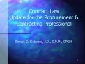 Contract Law Update for the Procurement  Contracting Professional