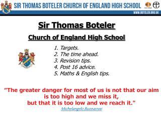 Sir Thomas Boteler Church of England High School