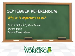 SEPTEMBER REFERENDUM