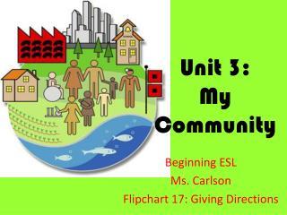 Unit 3: My Community