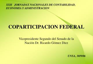 COPARTICIPACION FEDERAL