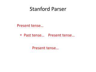 Stanford Parser