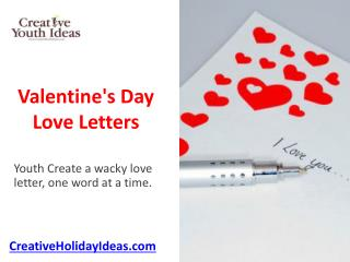 Valentine's Day Love Letters