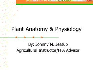 Plant Anatomy & Physiology