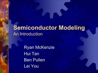 Semiconductor Modeling An Introduction
