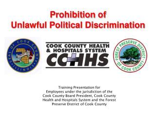 Prohibition of Unlawful Political Discrimination