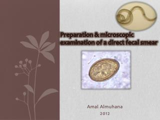 Preparation & microscopic examination of a direct fecal smear