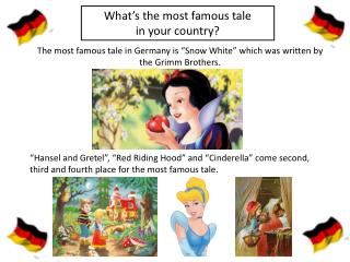 What's the most famous tale  in  your country?