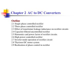 Chapter 2  AC to DC Converters