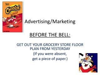 Advertising/Marketing BEFORE THE BELL: