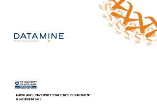 AUCKLAND UNIVERSITY STATISTICS DEPARTMENT