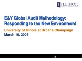 E&Y Global Audit Methodology: Responding to the New Environment