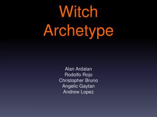 Witch  Archetype
