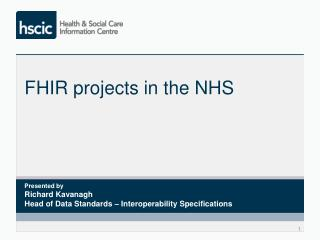 FHIR projects in the NHS