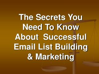 Professional Email List Building