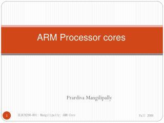ARM Processor cores