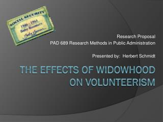 The Effects of Widowhood on Volunteerism