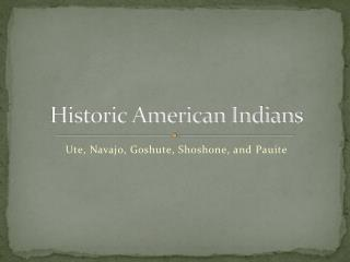 Historic American Indians
