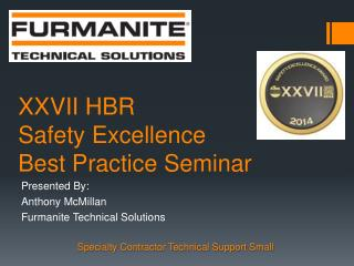 XXVII HBR Safety Excellence Best Practice Seminar