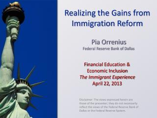Financial Education & Economic Inclusion The Immigrant Experience April 22, 2013